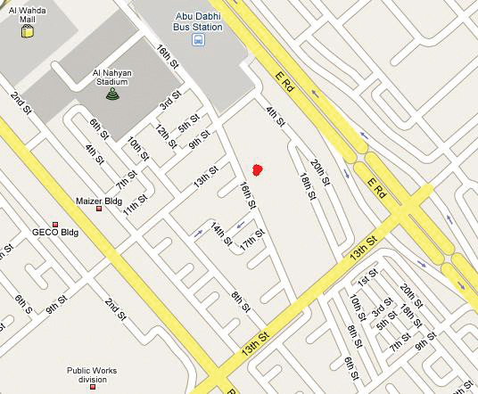 abu dhabi location map