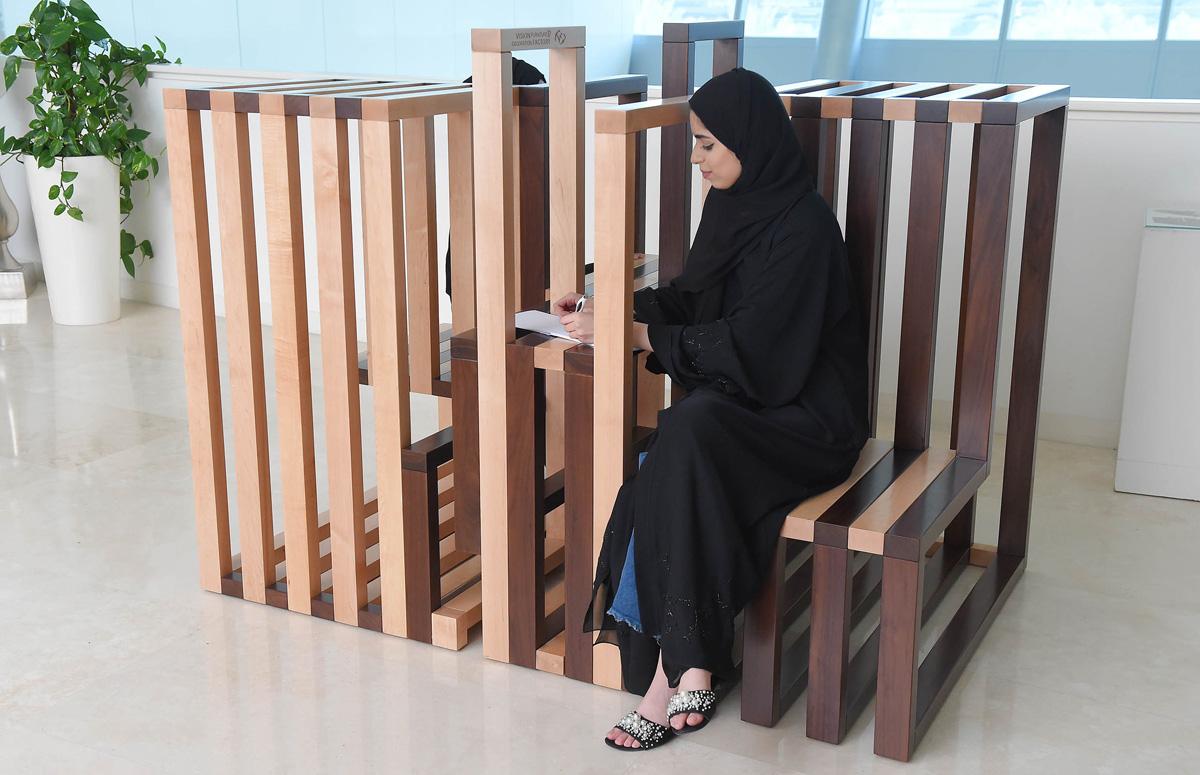 H.E Sheikha Lubna Bint Khalid Al Qasimi, President Of Zayed University, Has  Recently Honored Two Zayed University Students For Winning A Furniture  Design ...