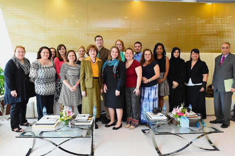 US Delegation Visits Zayed University