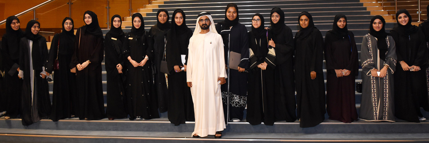 His Highness Sheikh Mohammed bin Rashid Al Maktoum visits Zayed University's Dubai Campus